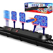 STOTOY Electronic Targets for Nerf Guns, Kids Running Shooting Target Scoring Auto Reset Digital Targets with Track, Practice Toys with Moving and Static Modes, Ideal Gift Toy for Boys & Girls