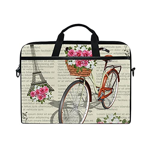 Bolsa Para Portátil Paris Vintage Laptop Shoulder Messenger Bag Funda Con Correa Ajustable Para El Hombro