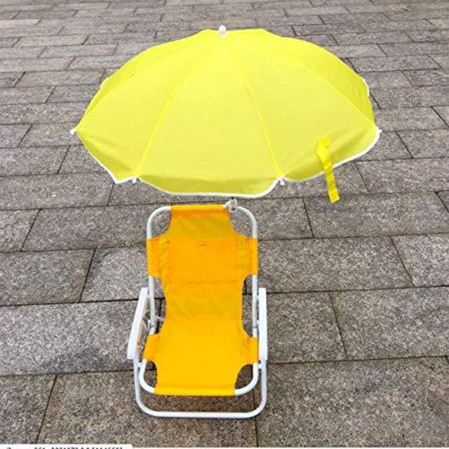 Silla Plegable al Aire Libre para niños Sillas y sombrillas de Playa recreativas Artefacto fotográfico Multifuncional Reclinable portátil - Amarillo
