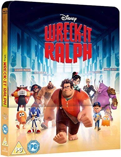 Wreck It Ralph 2017 3D Includes 2D Version UK Exclusive Lenticular Edition Steelbook Blu-ray Region Free