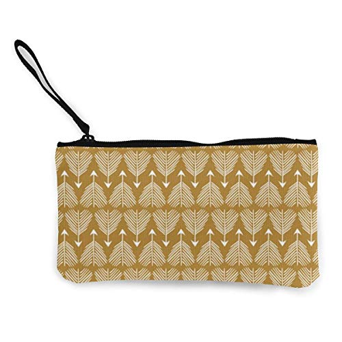 Canvas Coin Purse Good Shot (Mustard) MED Women and Girls Cute Fashion Canvas Coin Purse Change Coin Bag Zipper Small Purse Wallets for Keychain Money Travel Pouches