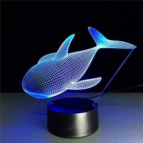 Color Lindo Animal Ballena lámpara Luces Novedad Noche luz táctil Sensor lámpara de Mesa niños