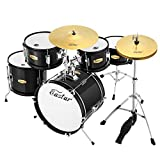 Eastar EDS-350S 16 inch 5-Piece Kids Junior Drum Set with Throne, Cymbal, Pedal & Drumsticks,...