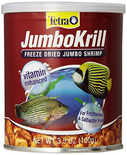 Tetra JumboKrill Freeze-Dried Jumbo Shrimp 3.5 Ounces, Natural Shrimp Treat For aquarium Fish