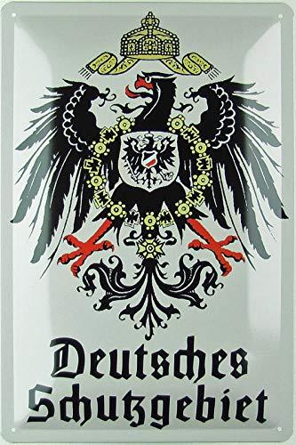 Blechschild 20x30cm gewölbt Deutsches Schutzgebiet Adler Deko Geschenk Schild