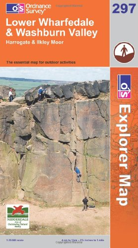 OS Explorer map 297 : Lower Wharfedale & Washburn Valley