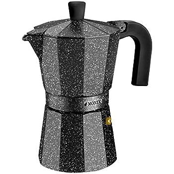 Monix Vitro Rock-Cafetera Italiana de Aluminio, 6 Tazas, 10 cm: Amazon.es: Hogar