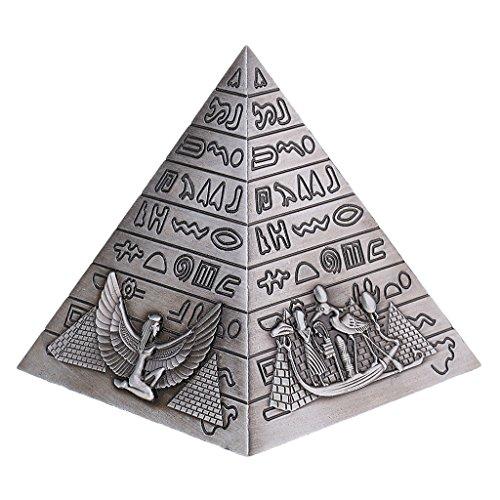 Sharplace Ornamento de Modelo Pirámide Decoración de Metal Color Bro