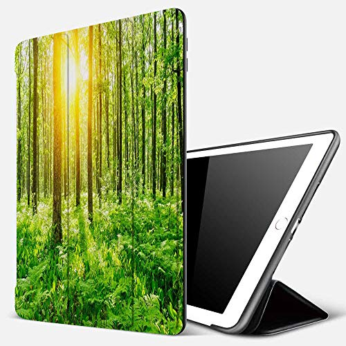 iPad 9.7 inch 2017/2018 Case/iPad Air/Air 2 Cover,Forest Tree Sunshine,PU Leather Shockproof Shell Stand Smart Cover with Auto Wake