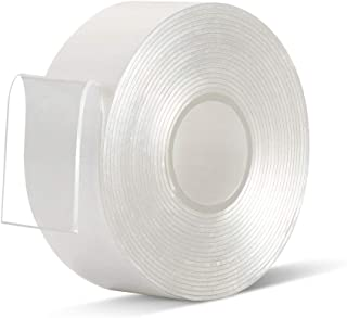 Double Sided Mounting Tape - 1 in 10 Ft Acrylic Mounting Adhesive Removable Clear Double-Sided Tape Heavy Duty for Indoor/Outdoor Mounting(Pack of 1 Roll)