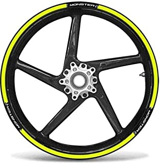 MOTORCYCLE STICKER KIT for RIMS 17 compatible with DUCATI MONSTER - YELLOW FLUO
