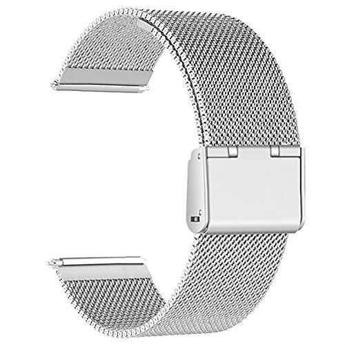 LCISCOUP Correa Reloj Correa De 20 Mm 22mm, Correa De Reemplazo De La Pulsera De Acero Inoxidable (Band Color : Silver, Band Width : 18mm)
