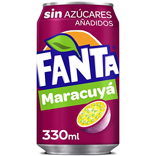 Fanta Refresco sin Azúcar Maracuya, 330ml