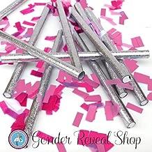 Gender Reveal Pink Confetti Sticks - Set of 10 Confetti Sticks