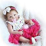 Pinky Reborn 18 Pulgadas 45 cm de Cuerpo Completo de Silicona Real Life Like Reborn Doll Vinilo Suave Realistic Newborn Baby Doll Imán Impermeable Chupete