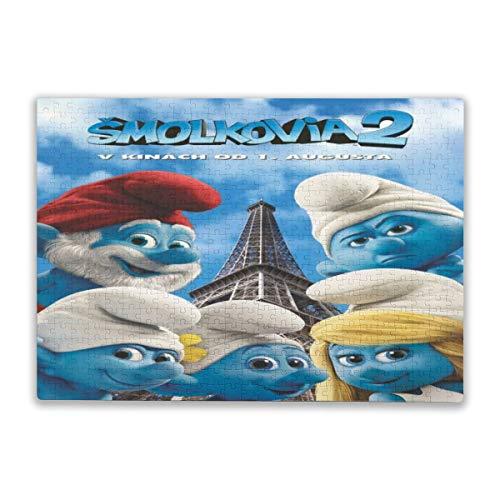 Rompecabezas de 500 piezas de The Pitufos, para adultos, alivio del estrés, niños, juegos intelectuales, una colección fresca de papel, multicolor, personalización, creatividad, personalización