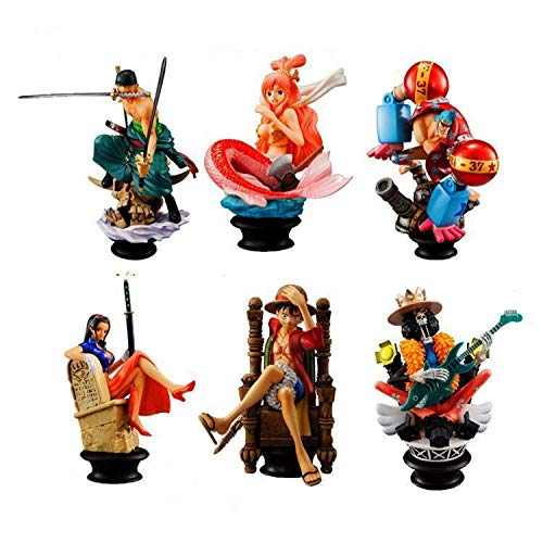 Zqcay Statues Figurine PVC Anime Pop Figure PVC Ambiental Niños Adultos Y Fanáticos del Anime Anime Figura Modelo Mesa Decoración Biological,Piezas De Ajedrez Generación 6 Mano Oficin