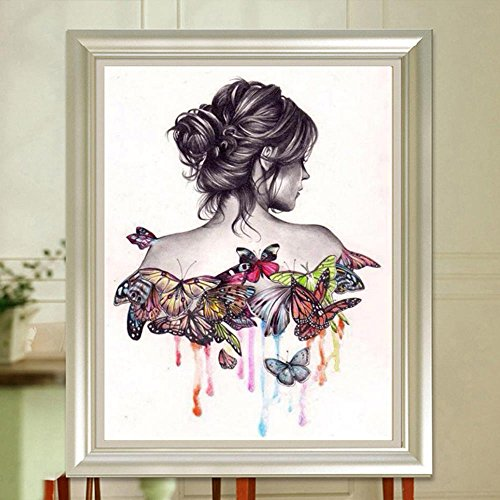 Diamond Painting Beauty Butterfly Creative Drawing Diy Visual Minimalism Painting Bedroom Living Room Wall Dining Room Home Decoration Art 40x30cm 15 7x11 81in Wantitall