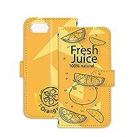 スマホケース 手帳型 ミラータイプ iPhone 8 Plus 用 パッケージ・オレンジ orange ジュースパック フェイクデザイン Apple アップル アイフォン エイト プラス docomo au SoftBank SIMフリー スタンド スマホカバー 携帯カバー juice 00l_109@05m