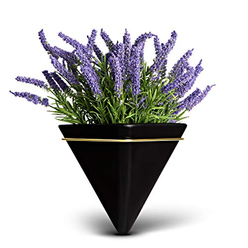 Trivium Wall Planter with Artificial Lavender Plant, Wall planters for Indoor Plants, Wall planters with Artificial Plants, Plant Wall Decor, Wall Vase, Artificial Hanging Plants, Faux Plants Wall