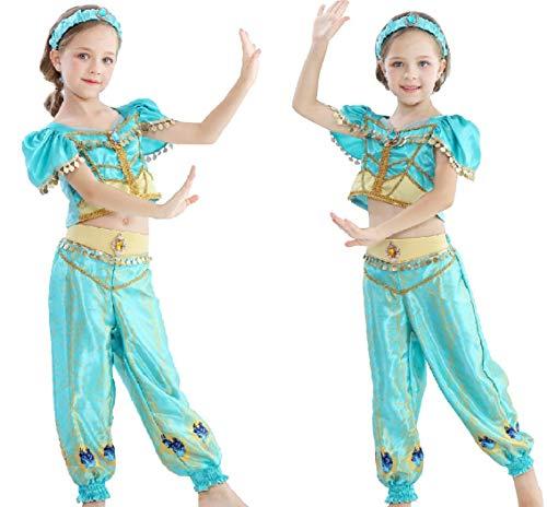 SMACO 2019 film meisjes kind zomer jasmin prinses dansjurk kinderen Aladdin Halloween party performance kostuum top rok broek set