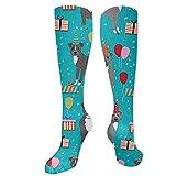 Not Applicable Socks,Pitbull Birthday Party Blue Christmas Calcetines Decorativos De Moda Para Practicar Senderismo En Bicicleta