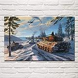 Aawmju Jigsaw Puzzle Puzzle 1000 Piezas, Campo de Batalla de la Guerra Mundial de Invierno Paper Puzzle para Adultos Niños Adolescentes Familia Educativa Intelectual Descompresión 50x75cm