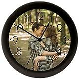 PROMO SHOP Reloj de Pared Grande Ø 250 mm Personalizado (con Logo, Foto o Imagen) · Mecanismo Silencioso Sweep sin TicTac · Reloj de Pared con Números para Hogares y Oficinas