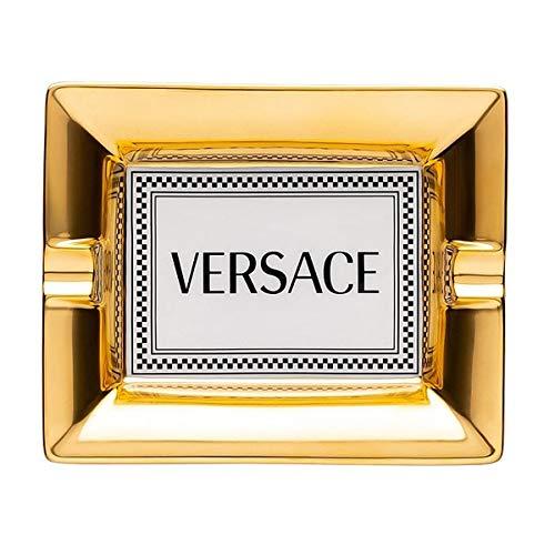 Versace by Rosenthal - Medusa Rhapsody - Aschenbecher, Ascher - 13 cm - Gold, Weiß - Porzellan