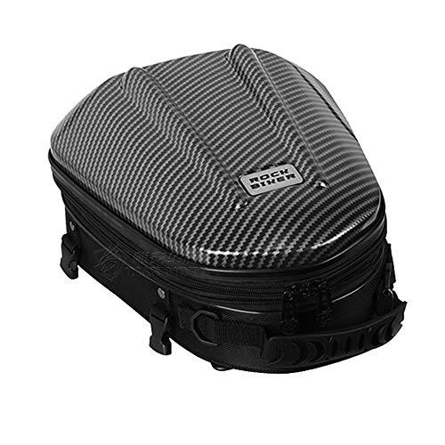 Baúl para moto, mochila de ciclismo, de piel sintética (poliuretano), impermeable y multifuncional, para el casco u otros objetos, tamaño mediano, disponible en 3 colores