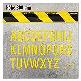 Marcador de suelo autoadhesivo con letras de la A a la Z, para almacenes, producción y áreas de seguridad, en tres tamaños (300 mm de altura, letra X, 1 unidad)