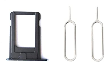 Nano Sim Card Socket Slot Bracket Tray Holder Free 2 Eject Pins for iPhone 5 Black