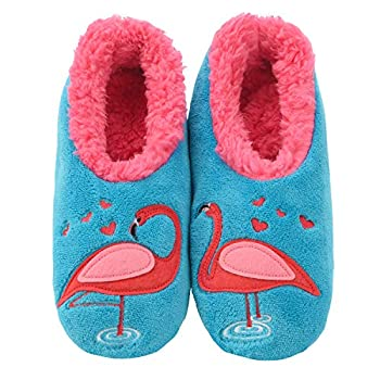 Snoozies Womens Pairables - Funny Slippers for Women - Womens Slippers - House Slippers - Flamingo - Medium