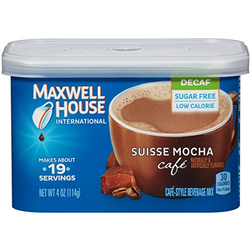 Maxwell House Decaf Suisse Mocha Instant Coffee International Cafe (4oz Canisters, Pack of 4)