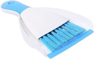ほうき ちりとりセット ミニクリーニングブラシ 掃除道具 軽量 掃除セット 台掃除用 床 テーブル キッチン 運転席 おしゃれ 年末掃除 ペット用にも (ブルー)