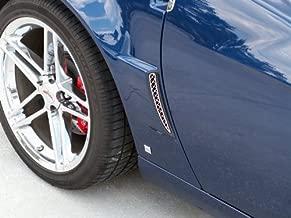 American Car Craft C6 Corvette Z06 Grand Sport Mesh Rear Side Vent Grilles