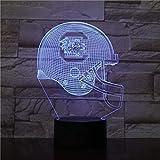 3D illusion lampe chapeau de rugby 3D veilleuse 7 couleurs veilleuse USB alimentation LED Flash tactile télécommande pépinière télécommande-Télécommande