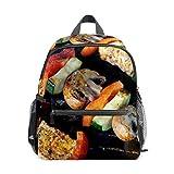 Yummy México Kebabs seta niños escuela mochila lona mochila gran capacidad mochila casual viaje mochila para niñas niños niños estudiantes