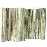 JIANFEI-Valla de jardín Valla De Madera Cerca De Bambú Barandilla Infantil Decoración Hogareña Impermeable Resistente A La Corrosión, 3 Tallas (Color : Green, Size : 100x200cm)