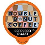Double Donut Coffee Espresso Roast Blend in Recyclable Single Serve Espresso Pods for the Keurig K Cup Machine, 80 Count, Original Version, 80 Count