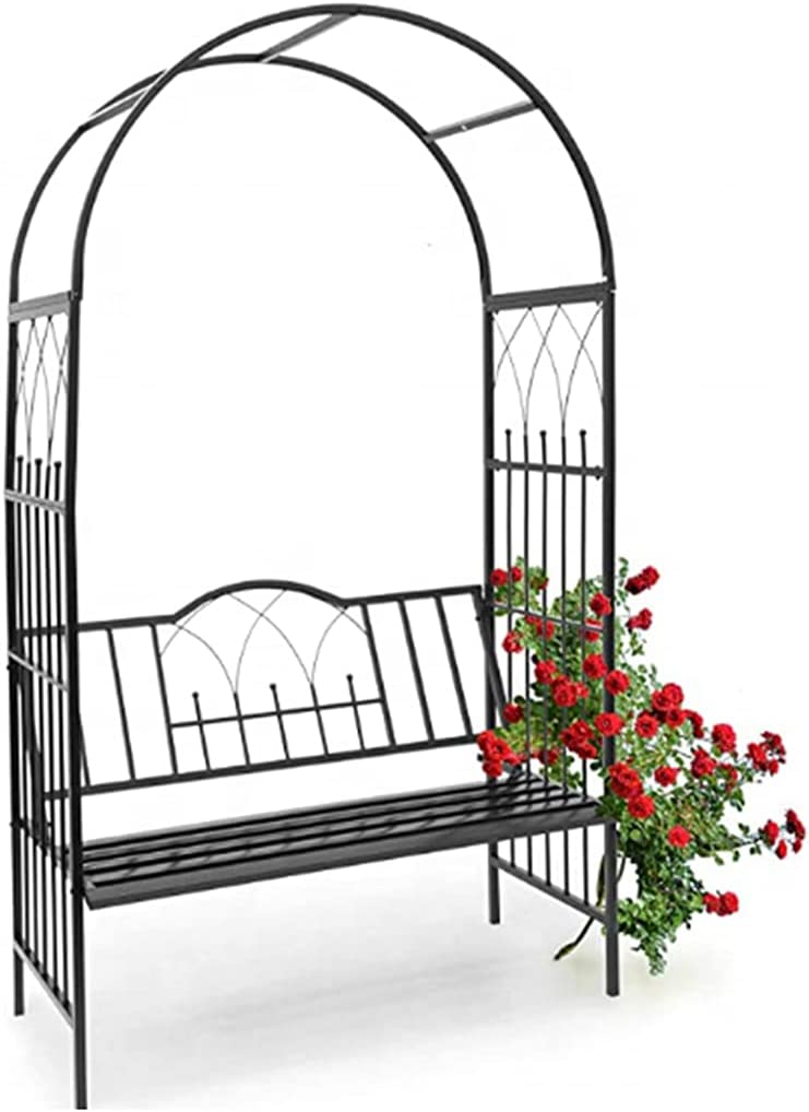 Rose Arches for Garden with Large Max 83% OFF Ar Bench Assembly Metal Overseas parallel import regular item