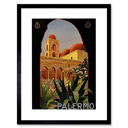 TRAVEL TOURISM PALERMO SICILY ITALY SAN GIOVANNI FRAMED ART PRINT B12X10603