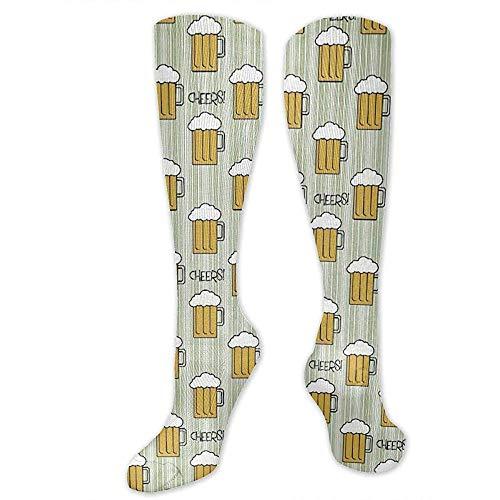 Recovery & Support Kompressionsstrümpfe (15-20 Mmhg), Cartoon Whisky Bierglas St Patrick Day Drinks Stillstrümpfe