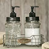 Hoosier Soap and Lotion Dispensers with Wire Caddy