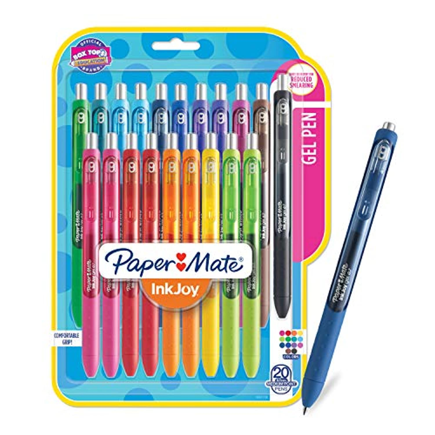 Paper Mate InkJoy Gel Pens, Medium Point, Assorted Colors, 20 Count - 1951718