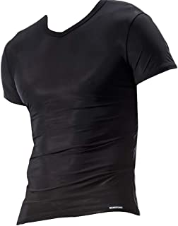 Men's Ice Silk Tank Top Short Sleeves T-Shirts Smooth Vest