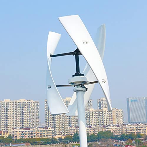 WANYE Inicio Techo Eje Vertical del imán Permanente, generador de turbina de Viento 12V / 24V / 48V con energía eólica Controlador de Carga híbrido Solar 600W-24V