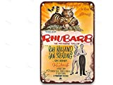 sfasf Rhubarb (1951), Vintage Movies Metal Tin Signs Funny for Garden Farmhouse Coffee & Bar Custom 20 x 30 cm