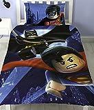 Juego de cama reversible de LEGO de Batman Superman Battle, polialgodón