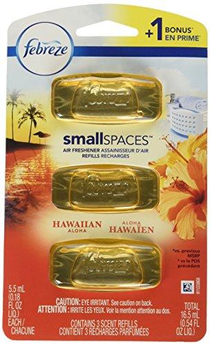 Febreze Small Spaces Air Freshener Refills, Hawaiian Aloha, 0.54 Fluid Ounce, 3 Count